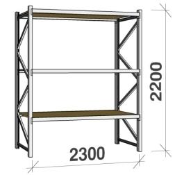 Metallriiulid sari 2200 H x 2300 L