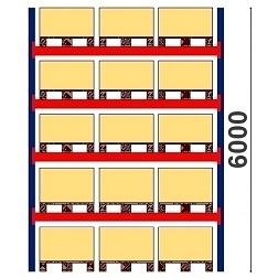 Kaubaaluste riiulid H=6000 BASIC