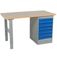 Arbetsbord, vinyl, ek och träfiber