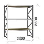 Metallriiulid sari 2500 H x  2300 L