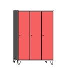 Lockers with a long door