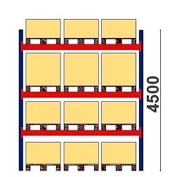 Kaubaaluste riiulid H=4500 BASIC