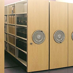 Archive mobile shelving system