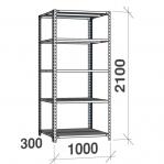 Metallriiul 2100x1000x300, 5 plaati, 120kg/plaat, hall