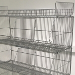 Wire stack container set with legs 1182x595x1380, 3 levels