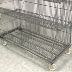 Wire stack container set with legs 1182x595x1533, 4 levels