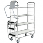 Flexibel shelf trolley 4 shelves, 815 x 470 x 1590, 250kg