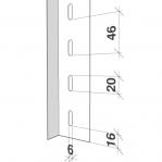 Laoriiul põhiosa 2300x1000x300 200kg/riiuliplaat,6 plaati