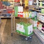 In-Store trolley 2 shelves 1030x1020x530mm
