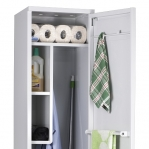 Cleaning cupboard 1900x400x535 RAL 7035