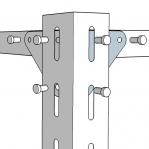 Metallriiul 2100x1000x300, 6 plaati, 120kg/plaat, hall