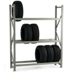 Metallriiul põhiosa 2200x1800x600 480kg/tasapin,3 puitlaast tasapinda