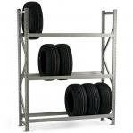 Metallriiul põhiosa 2200x2300x600 350kg/tasapind,3 puitlaast tasapinda