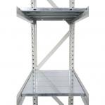 Metallriiul põhiosa 2200x1500x500 600kg/tasapind,3 tsinkplekk tasapinda