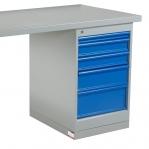 Töölaud 2000x800 5-osalise sahtlikapiga, puitkiudplaat