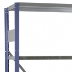 Laoriiul lisaosa 2500x1000x800 200kg/riiuliplaat,6 plaati, sinine/Zn