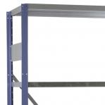 Laoriiul lisaosa 2500x1000x400 200kg/riiuliplaat,6 plaati, sinine/Zn