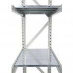 Metallriiul põhiosa 2200x1500x600 600kg/tasapind,3 puitlaast tasapinda