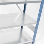 Laoriiul põhiosa 2500x1000x400 200kg/riiuliplaat,6 plaati, sinine/Zn