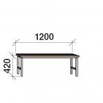 Istepink puidust kattega 1200x290x420