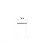 Istepink puidust kattega 300x290x420