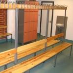 Dubbelsidig bänk med 6 krokar, 1700x600x770