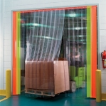 PVC curtain Relief 2x300mm/meter