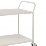 Shelf trolley 900x540 mm, 2 shelves white 250 kg.