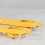 Kahvelkäru 1150x520/2500 kg nailon rattad tandem rullik; punane