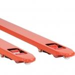 Kahvelkäru 1150x540/2500 kg kummirattad/PU tandem rullik; oranz