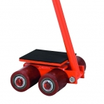 Machine roller with towing rod 4T
