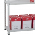 Angle shelf 2500x1000x400, 6 levels,120kg/level, gray upright/galv. shelves