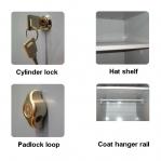 Locker 2x400, 1900x800x545 short door