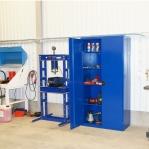 Töökojakapp 4 riiuliga 2000x1000x500 RAL 5017 kokkupandav