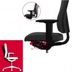 Kontoritool Office Lux 530 polsterdatud kangaga, kõrgus 470-610 mm