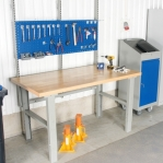 Worktable with oil-tempered board 1600x800
