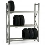 Metallriiul põhiosa 2500x1800x800 480kg/tasapind,3 tsinkplekk tasapinda