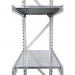 Metallriiul põhiosa 2500x1500x800 600kg/tasapind,3 puitlaast tasapinda