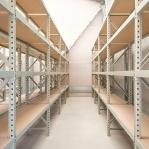 Metallriiul põhiosa 2500x1800x800 480kg/tasapind,3 puitlaast tasapinda