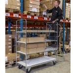 Robust flexible shelf trolley 1590x650x1695H/300 kg