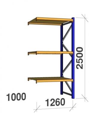 Lisaosa 2500x1260x1000 450kg/ tasapind, 3 puitlaastplaadist tasapind