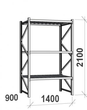 Laoriiul põhiosa 2100x1400x900 600kg/tasapind,3 tsinkplekk tasapinda