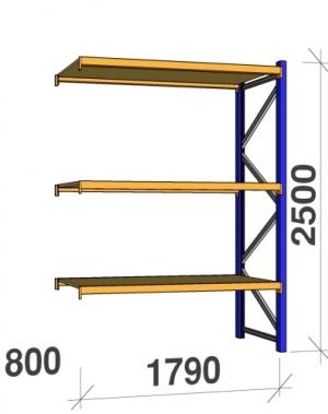Lisaosa 2500x1790x800 360kg/tasapind, 3 puitlaastplaadist tasapinda