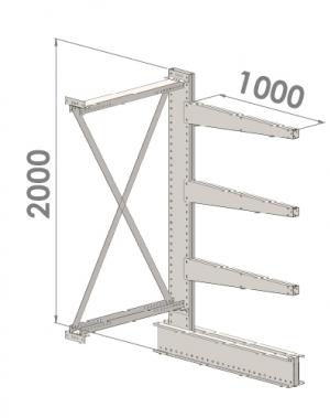 Konsoolriiul lisaosa 2000x1000x1000,4 korrust