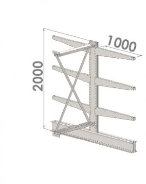 Konsoolriiul lisaosa 2000x1000x2x1000,4 korrust