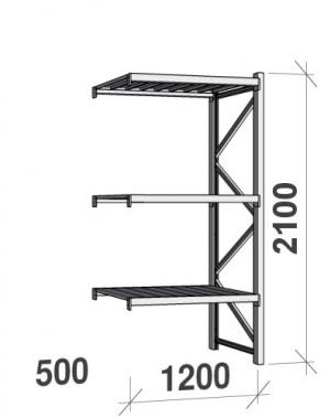 Laoriiul jätkuosa 2100x1200x500 600kg/tasapind,3 tsinkplekk tasapinda