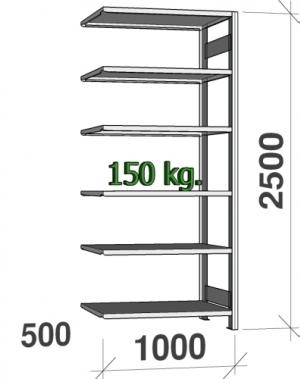 Laoriiul lisaosa 2500x1000x500 150kg/riiuliplaat,6 plaati
