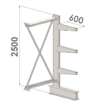 Add On bay 2500x1000x600,4 levels