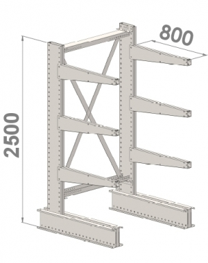 Starter bay 2500x1000x800,4 levels