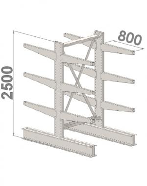 Starter bay 2500x1000x2x800,4 levels